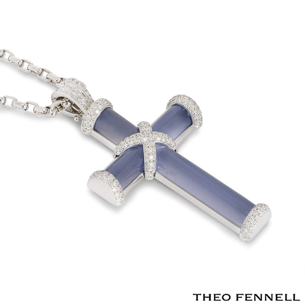 Theo Fennell White Gold Cross Pendant